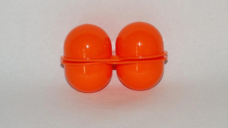 Bewaardoos twee eitjes - oranje