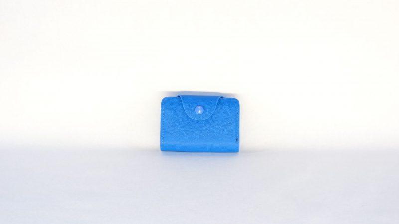Lederen kaarthouder blauw - nr09
