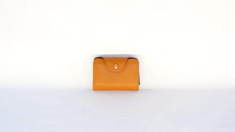 Lederen kaarthouder oranje - nr11