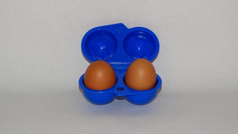 Lunchbox twee eitjes - blauw