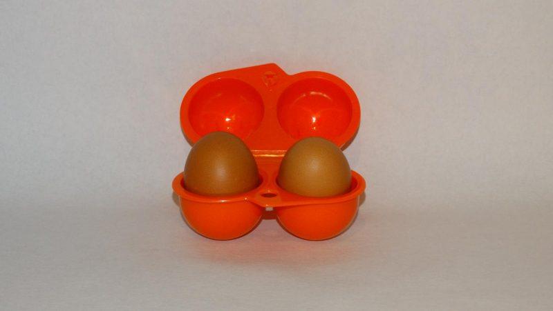 Lunchbox twee eitjes - oranje